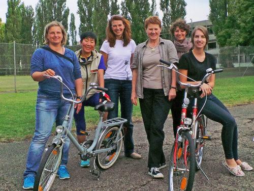 Radfahrtrainerinnen am Start