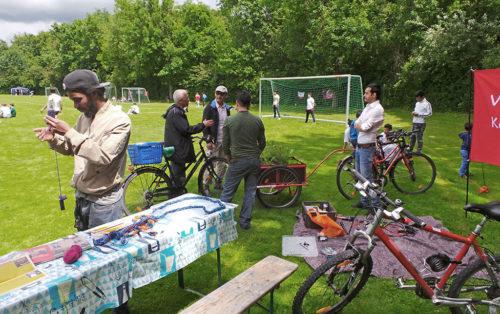 Fahrrad und Fußball