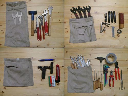 Upcycling: Cargohose wird Werkzeugtasche