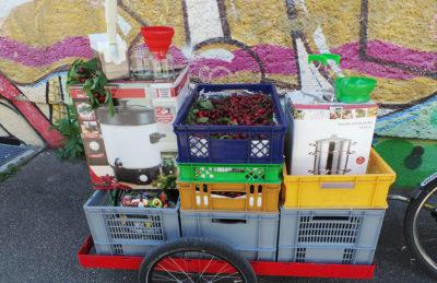 Mit der mobilen Einmachküche unterwegs