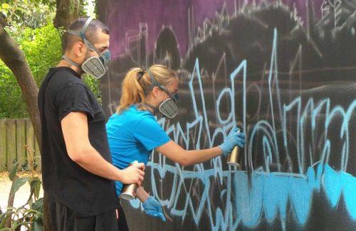 Straßenkunst am Paul-Ben-Haim-Weg